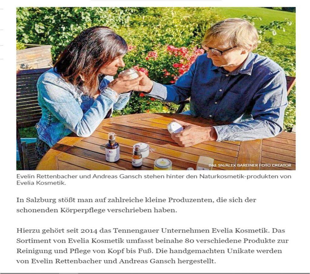 Evelia in den Salzburger Nachrichten