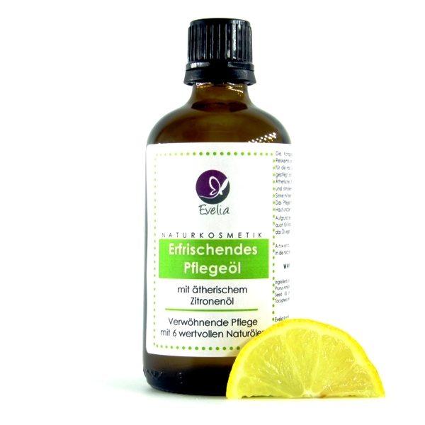 Erfrischendes Pflegeöl Zitrone