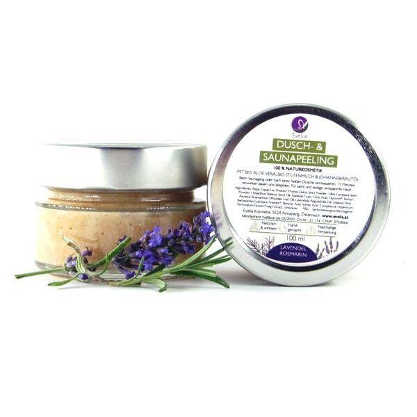 Sauna- und Duschpeeling Lavendel Rosmarin